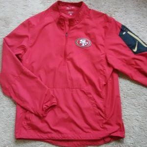 Nike NFL 49ers 1/2 Zip Pullover Jacket
